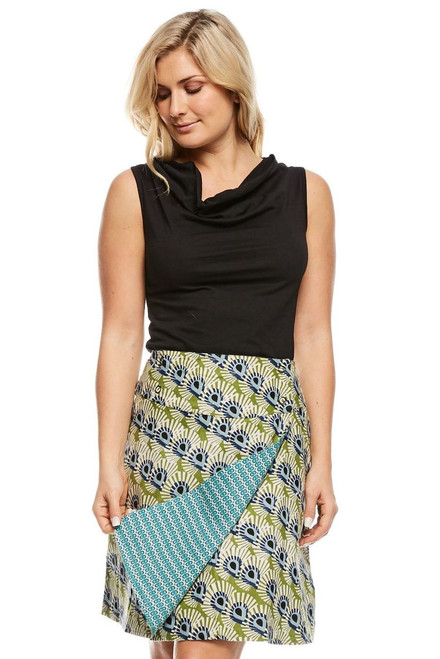 Reversible Skirt - Mystic & Tic Tac Blue
