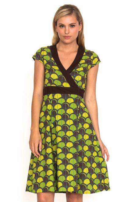 Wrap Dress - Shell Green