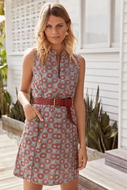 Jasmin Dress - Kiwi Ochre