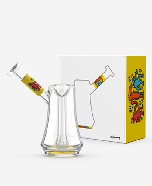 The K. Haring Glass Bubbler