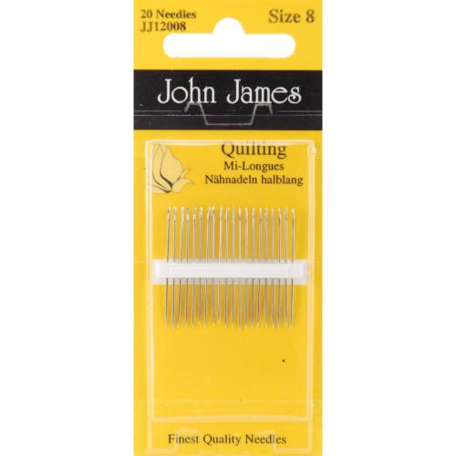 John James Quilting/Betweens Hand Needles Size 8 20/Pkg