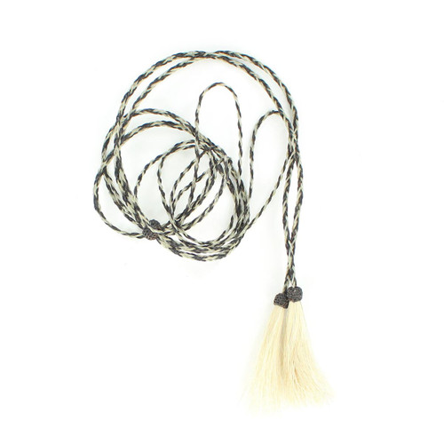 Braided Horsehair Stampede String (Grey)