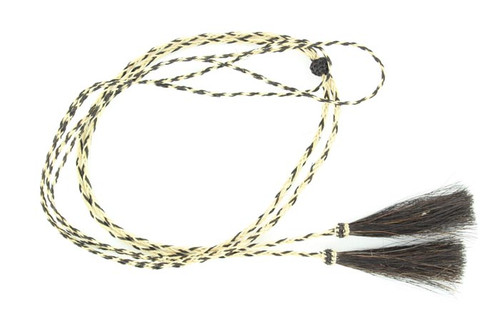 Braided Horsehair Stampede Strings - Natural