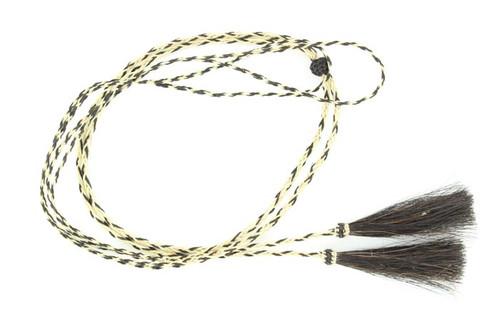 Braided Horsehair Stampede Strings - Natural