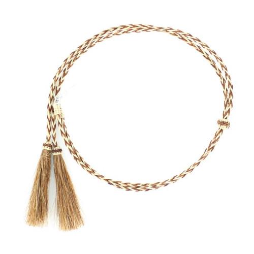 Horsehair Braided Stampede String - Rust