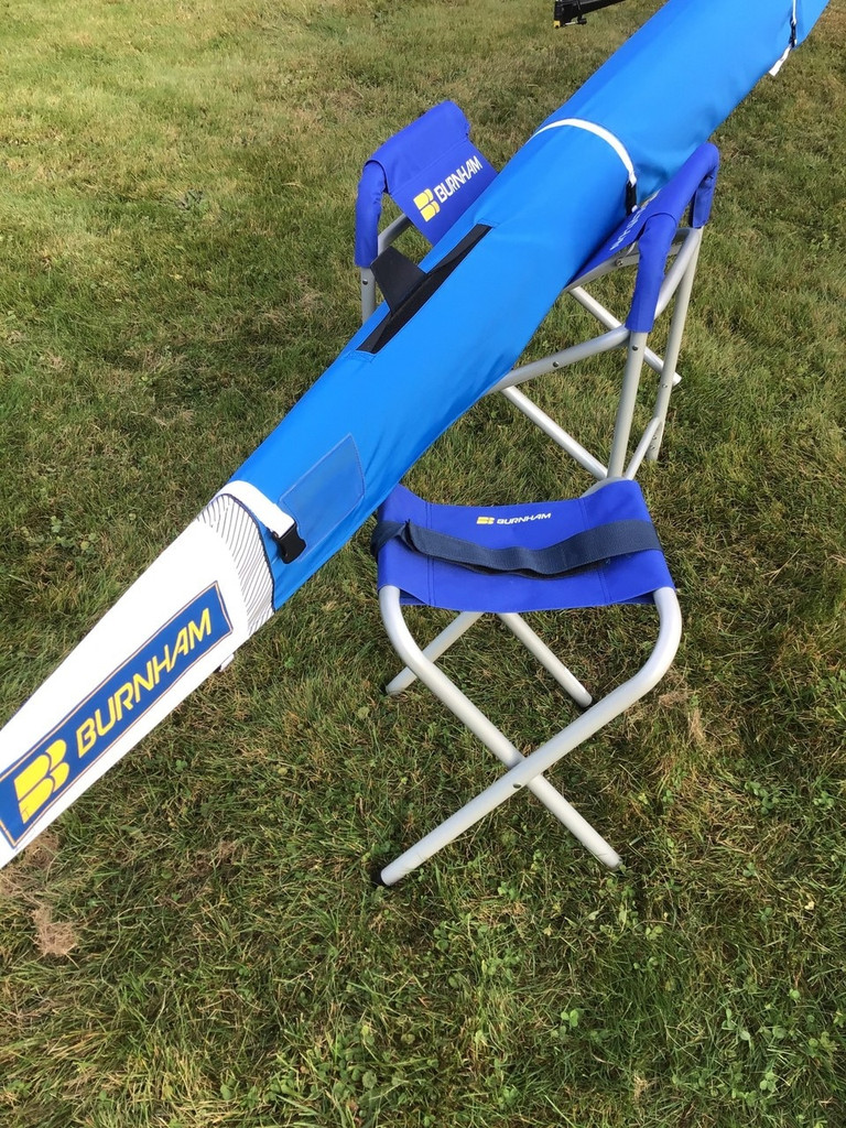 Chesapeake sling with 1x alongside Regatta sling. Boat slings for rowing shells and kayaks.
