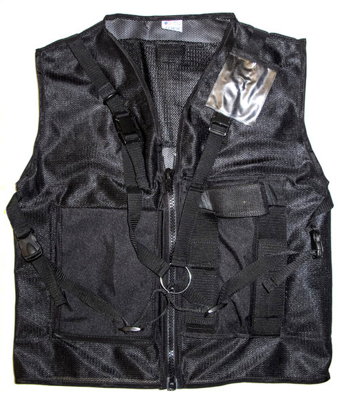Vest Tool Black Mesh Lg