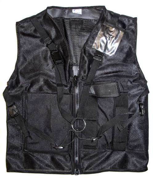 Vest Tool Black Mesh Med