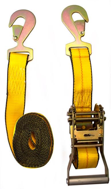 Load Binder Ratchet Nylon 13.5' W/Flat Hooks