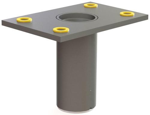 Flush Floor-Mount Sleeve for Existing Concrete, Stainless Steel ($558)