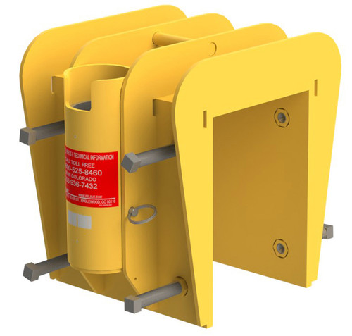 """Clamping Portable Wall-Mounted Plate/Sleeve, Aluminum, 3-8"""" Thick ($3,052)"""