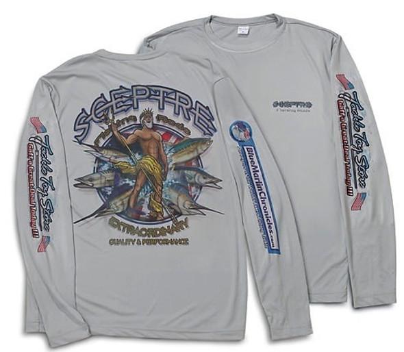 Long Sleeve Quick Dry Gray Fishing Shirt Size Medium