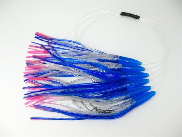 Blue & Metal Flake Silver Daisy Chain