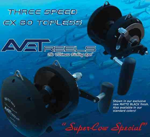 Avet EX 80 Wide 3 Speed Reel