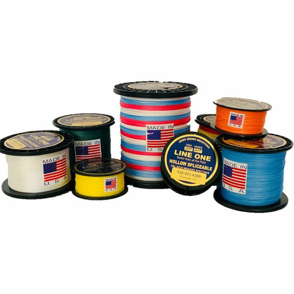 Jerry Brown Line One 130 LB Spectra Hi-Vis Yellow Hollow Core Braided Line