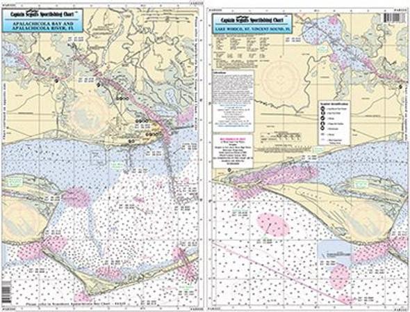 Captain Segull Chart No AB333 Apalachicola Bay & River, FL