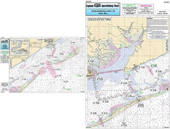 Captain Segull Chart No AC334 Apalachicola and East Bay/St George Sound, FL