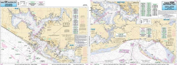 Captain Segull Chart No AJ137 Inshore St Joseph & St Andrews Bays, FL