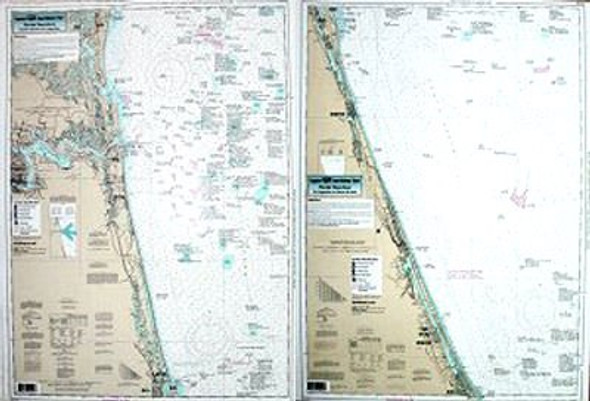 Captain Segull Chart No APL33 Nearshore Amelia Is. To Ponce de Leon, FL