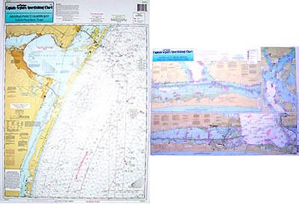 Captain Segull Chart No BAF54 Nearshore - Inshore Baffin Bay, TX