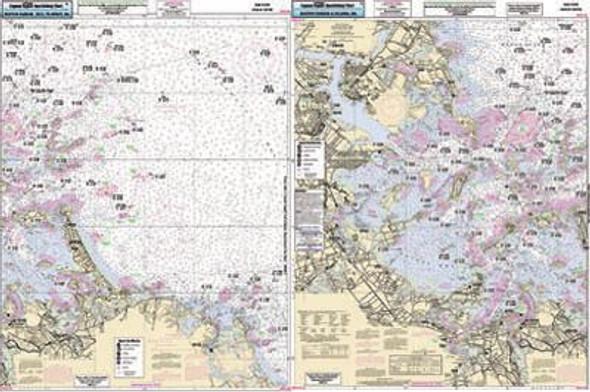 Captain Segull Chart No BH102 Boston Harbor to Minot