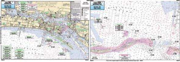Captain Segull Chart No BLB310 Biloxi, MS to Ship Island, MS