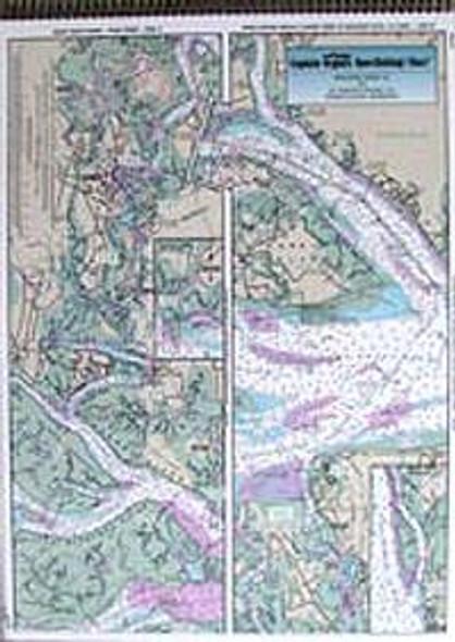 Captain Segull Chart No BS128 ICW: Beaufort River to St Simons Sound, GA