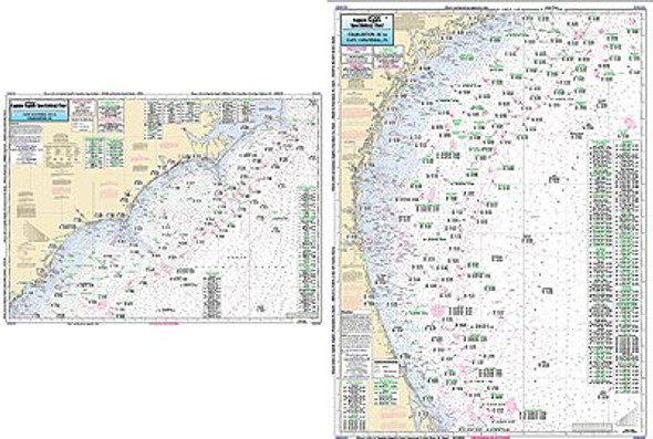 Captain Segull Chart No CHCC23 Offshore Cape Hatteras to Cape Canaveral