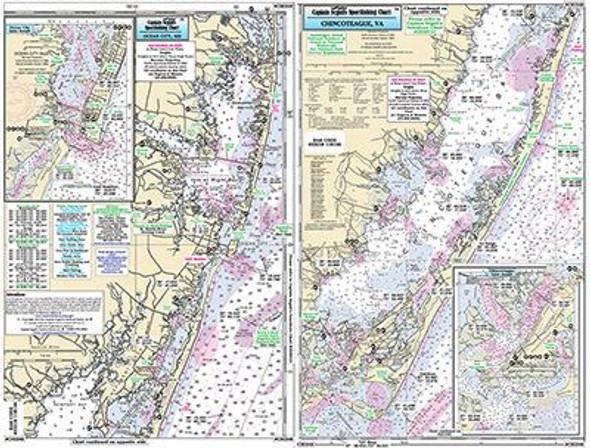 Captain Segull Chart No CHI340 Ocean City, MD/Chincoteague Bay, VA