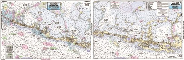 Captain Segull Chart No CKM352 Cross Key to Upper Matecumbe Key, FL