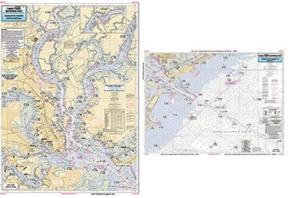 Captain Segull Chart No CST136 Inshore Charleston Harbor, SC