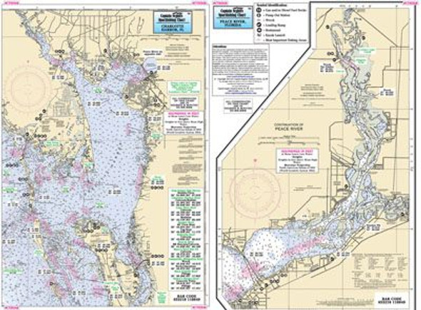 Captain Segull Chart No CTH348 Charlotte Harbor and Peace River, FL