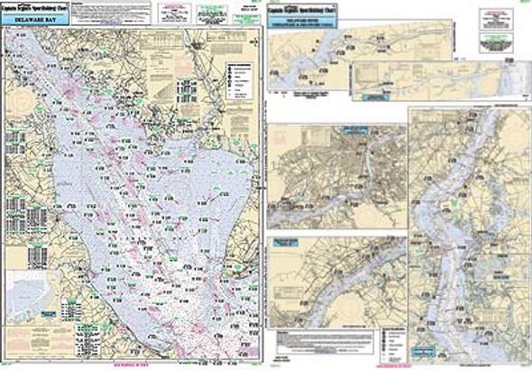 Captain Segull Chart No DEL117 Inshore Delaware Bay