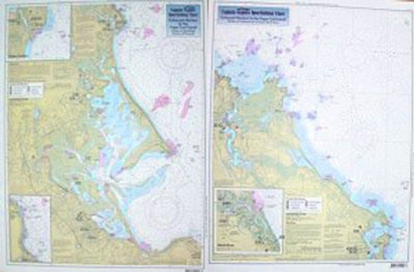 Captain Segull Chart No DS112 Inshore Cohasset to Manomet, MA