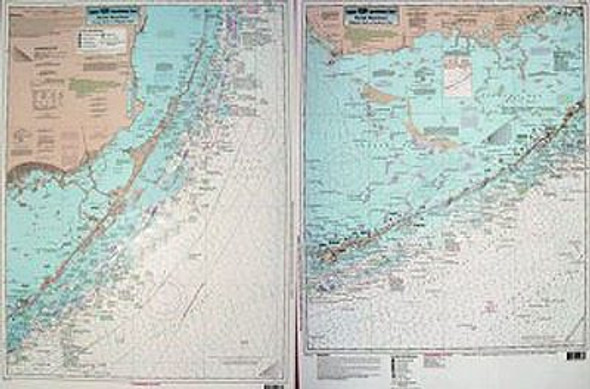Captain Segull Chart No FAS36 Fowey Rocks to Sombrero Key, FL