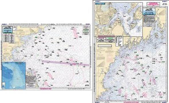 Captain Segull Chart No GMM17 Offshore Gulf of Maine Massachusetts Bay