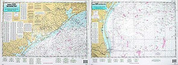 Captain Segull Chart No GRG51 Offshore Galveston to Rio Grande, TX