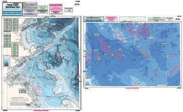Captain Segull Chart No IC209 Bathymetric MA - Cashes Ledge