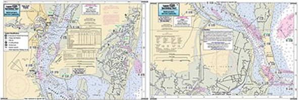 Captain Segull Chart No IWB339 Inshore Winyah Bay, SC