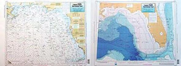 Captain Segull Chart No KWM44 FL Keys to the Mighty Mississippi River, LA