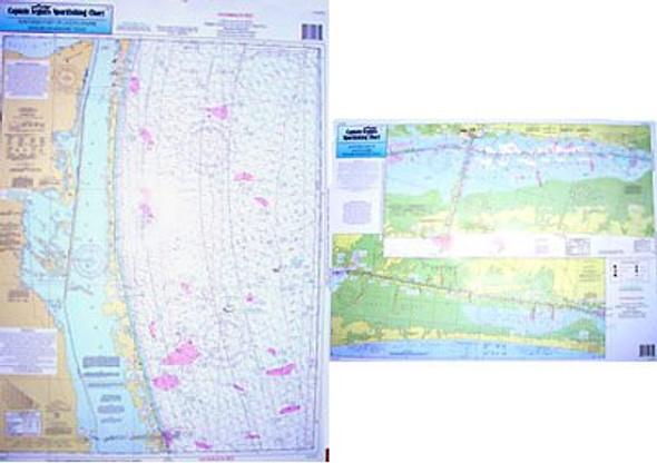 Captain Segull Chart No LMN53 Nearshore - Inshore Laguna Madre North, TX