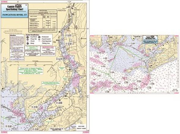 Captain Segull Chart No LNB345 Little Narragansett Bay and Pawcatuck River CT, RI