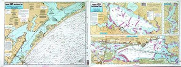 Captain Segull Chart No MAP56 Nearshore Inshore Matagorda to Aransas Pass, TX