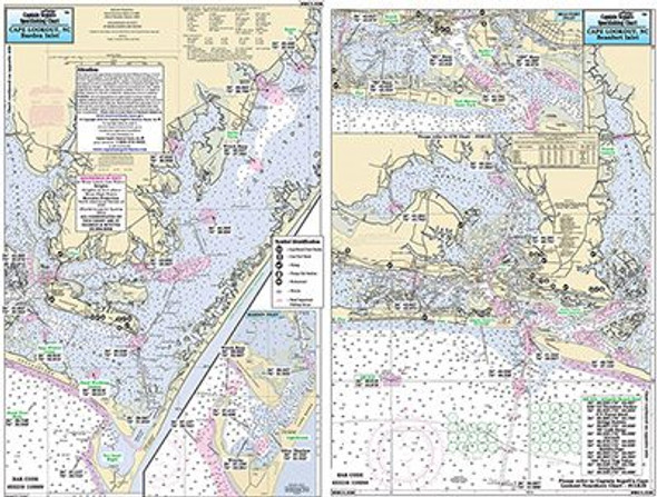 Captain Segull Chart No MCL338 Morehead City to Cape Lookout, NC