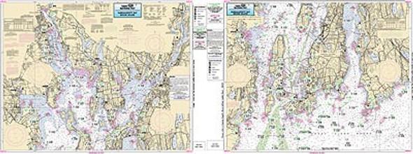 Captain Segull Chart No NB104 Narraganset Bay, RI