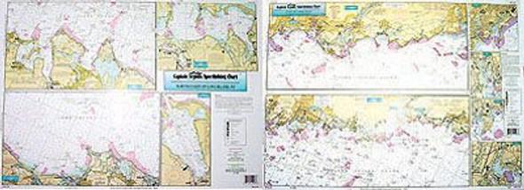 Captain Segull Chart No NLI106 Inshore North Coast of LI, Coast of CT