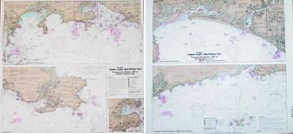 Captain Segull Chart No NS101 Inshore Portsmouth, NH to Boston Harbor, MA