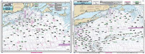 Captain Segull Chart No OF10 Montauk, Peconic, & Orient Bays out to 100 miles