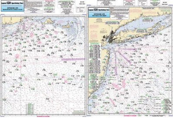 Captain Segull Chart No OFGPS18 Offshore MA, RI, CT, NY, NJ