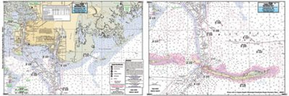 Captain Segull Chart No PBI312 Pascagoula, Horn Is. Pass, Petit Bois Island, MS